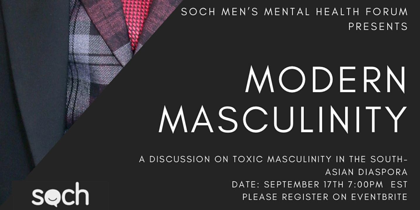 SOCH's September Mental Health Community Conversation | Modern Masculinity